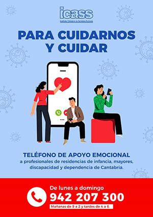 Enlace a Teléfono de apoyo emocional a profesionales de residencias y de los servicios de ayuda a domicilio